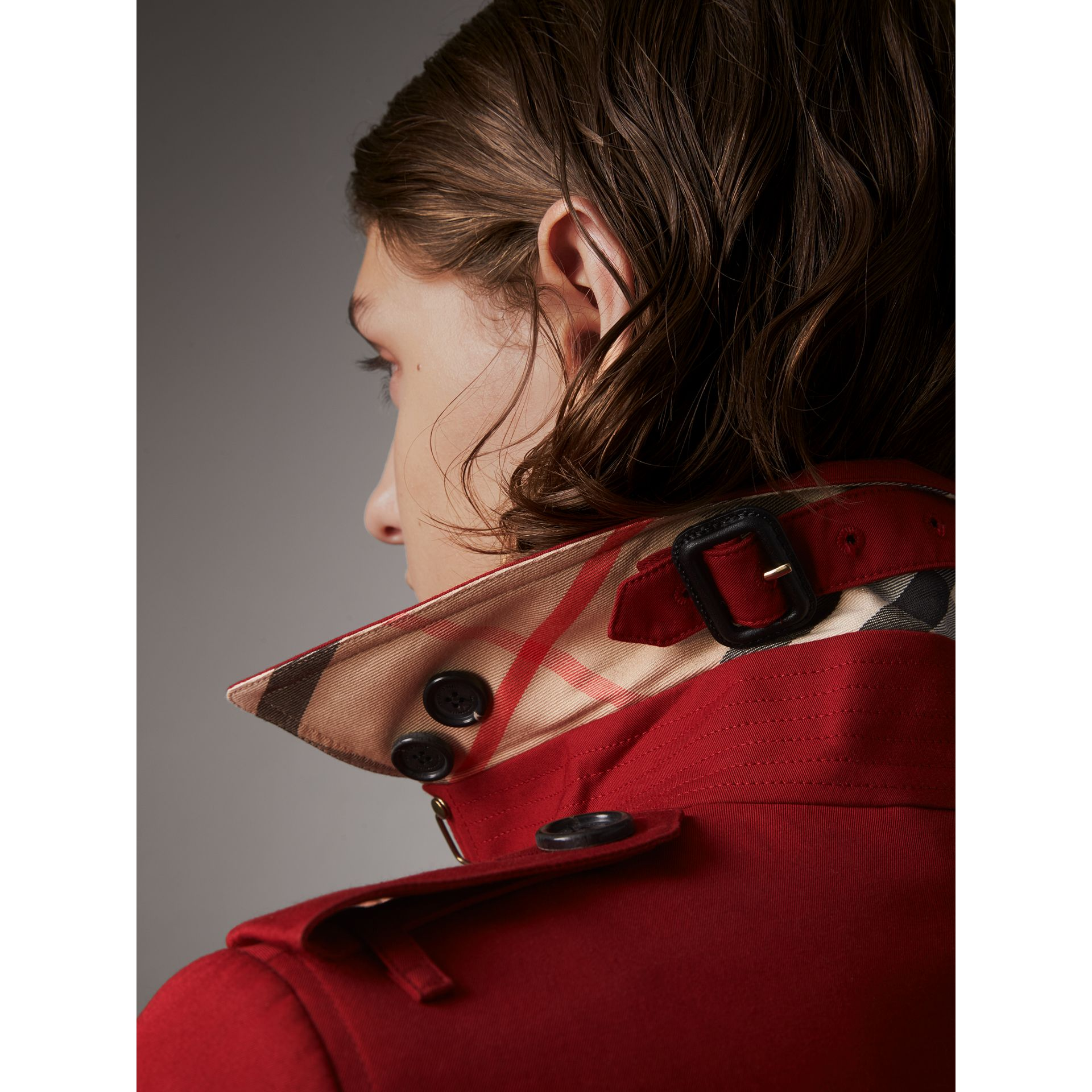 The Sandringham  – Long Trench Coat in Parade Red - Women | Burberry - gallery image 2