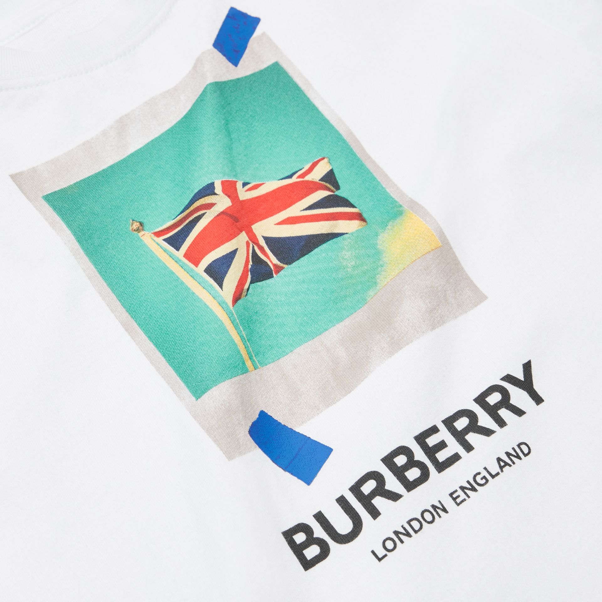 Polaroid Print Cotton T-shirt in White - Children | Burberry Australia - gallery image 1