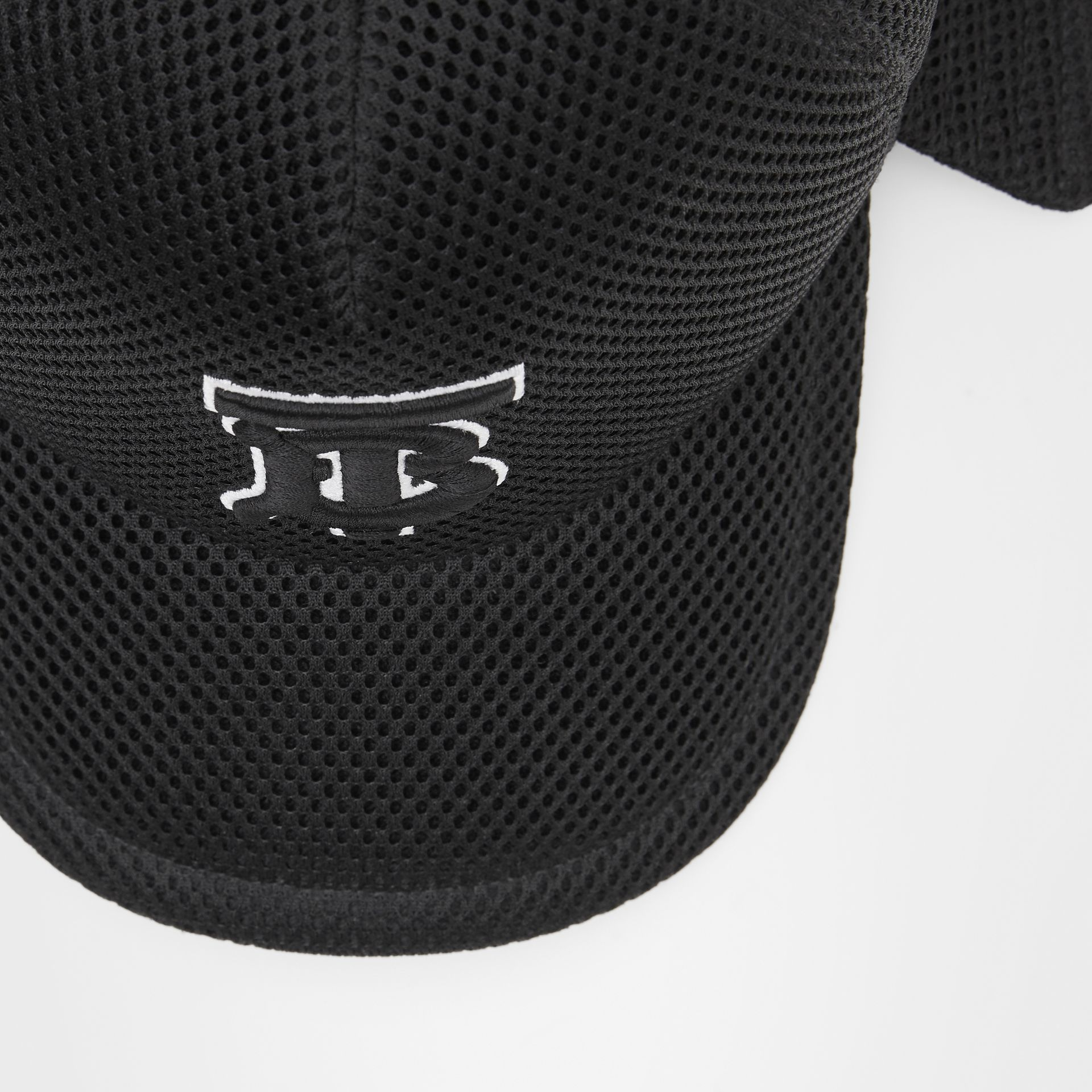 Monogram Motif Reconstructed Baseball Cap in Black   Burberry - gallery image 1