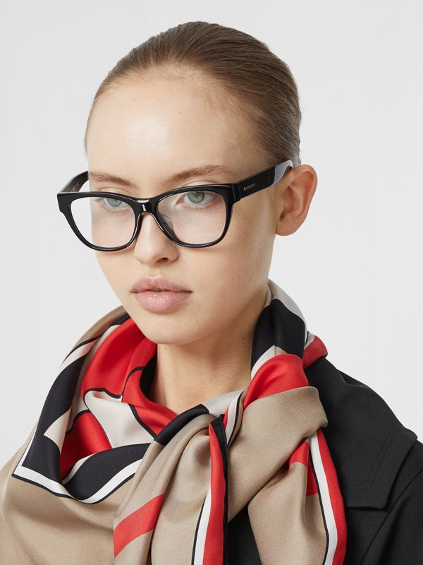 Square Optical Frames in Black - Women | Burberry - cell image 2