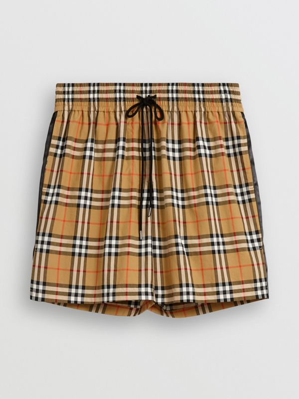 Vintage Check Drawstring Shorts in Antique Yellow - Women | Burberry United States - cell image 3