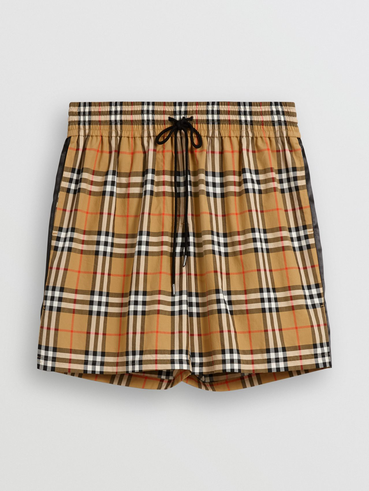 Vintage Check Drawcord Shorts in Antique Yellow