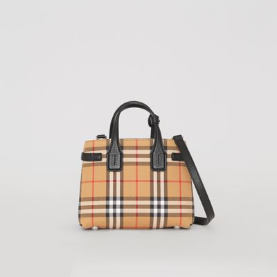 e0b4c4a398b Shoptagr | The Baby Banner In Vintage Check And Leather by Burberry