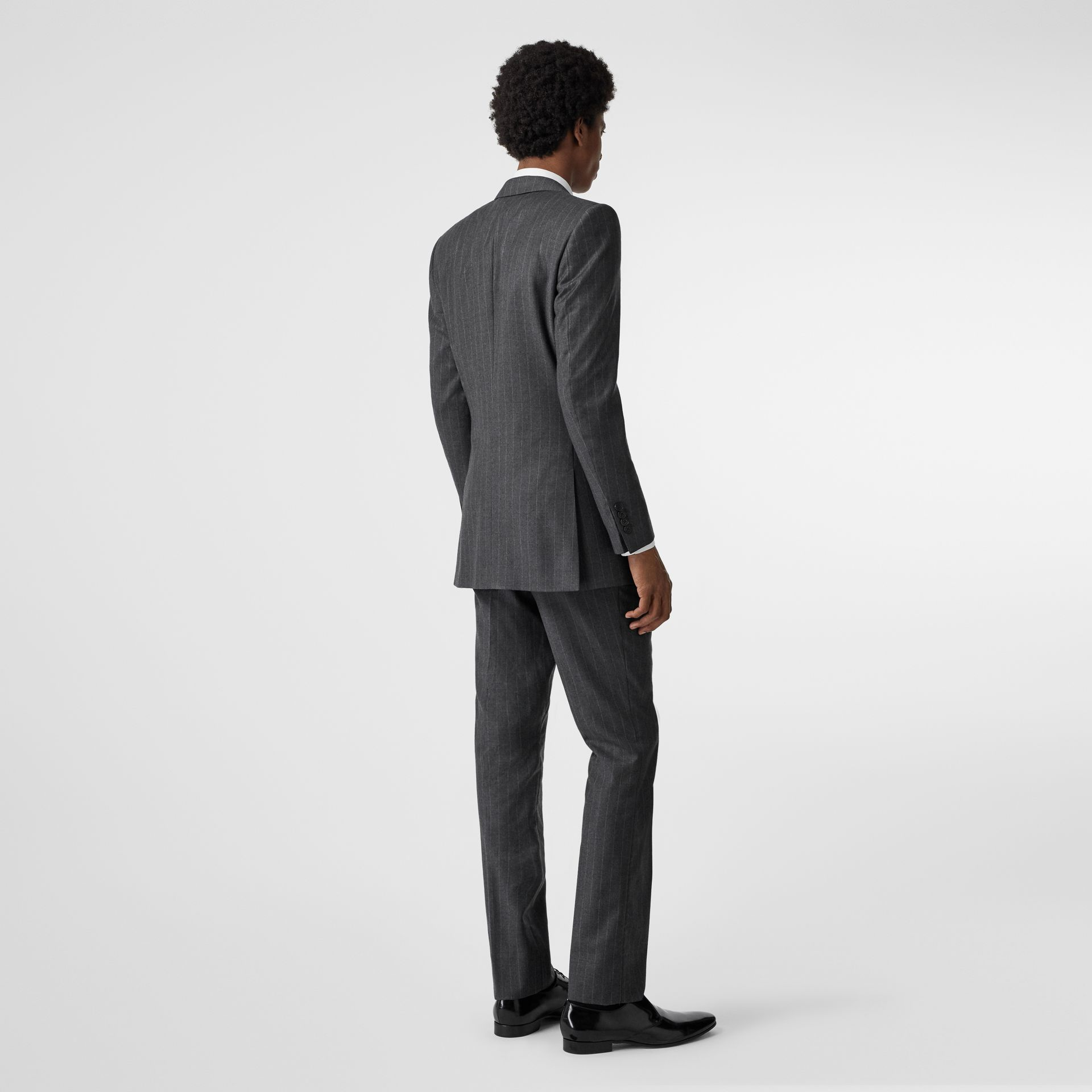 Slim Fit Pinstriped Wool Cashmere Suit in Mid Grey - Men | Burberry Australia - gallery image 2