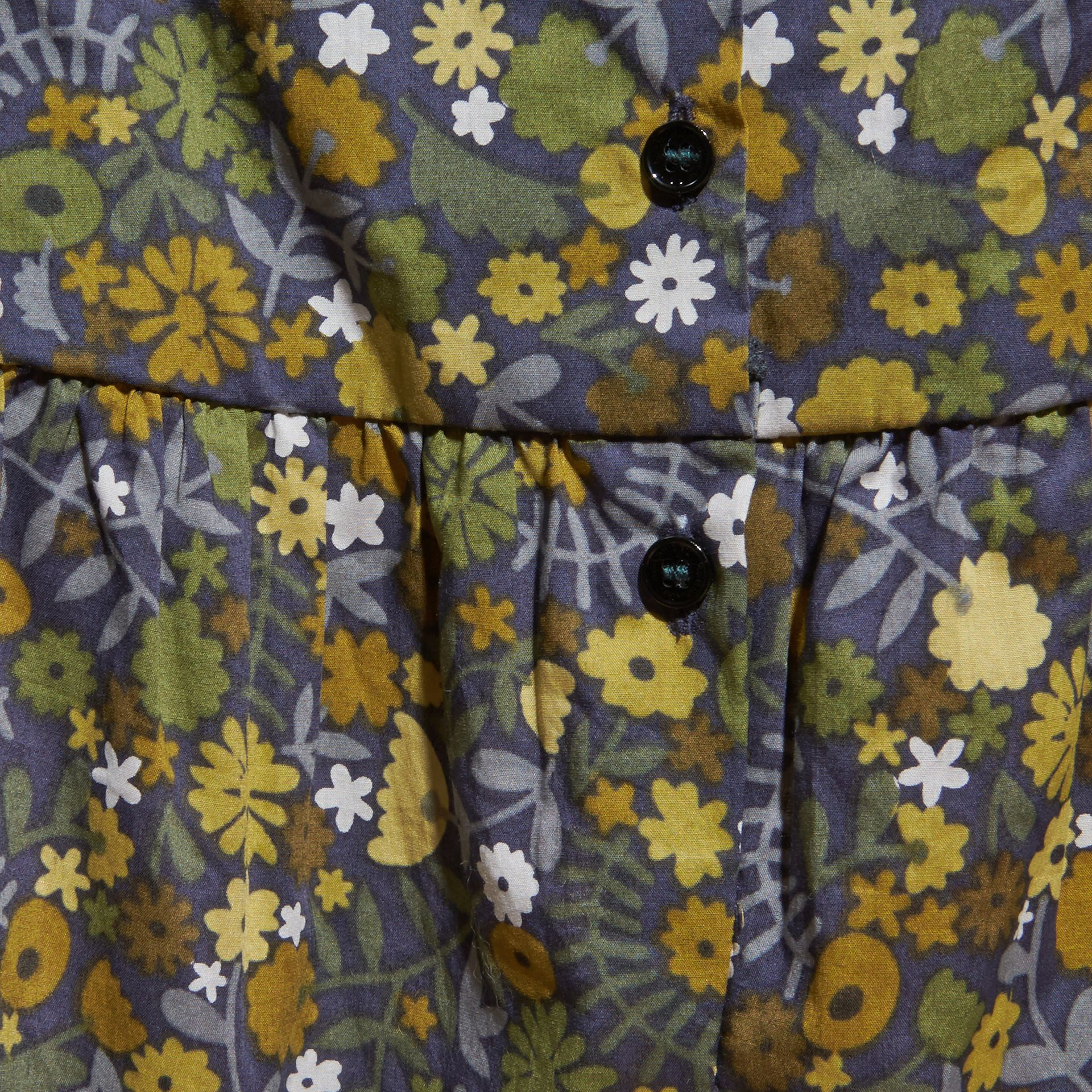 Dusty citrine Floral Print Cotton All-in-one with Ruffle Detail Dusty Citrine - gallery image 2