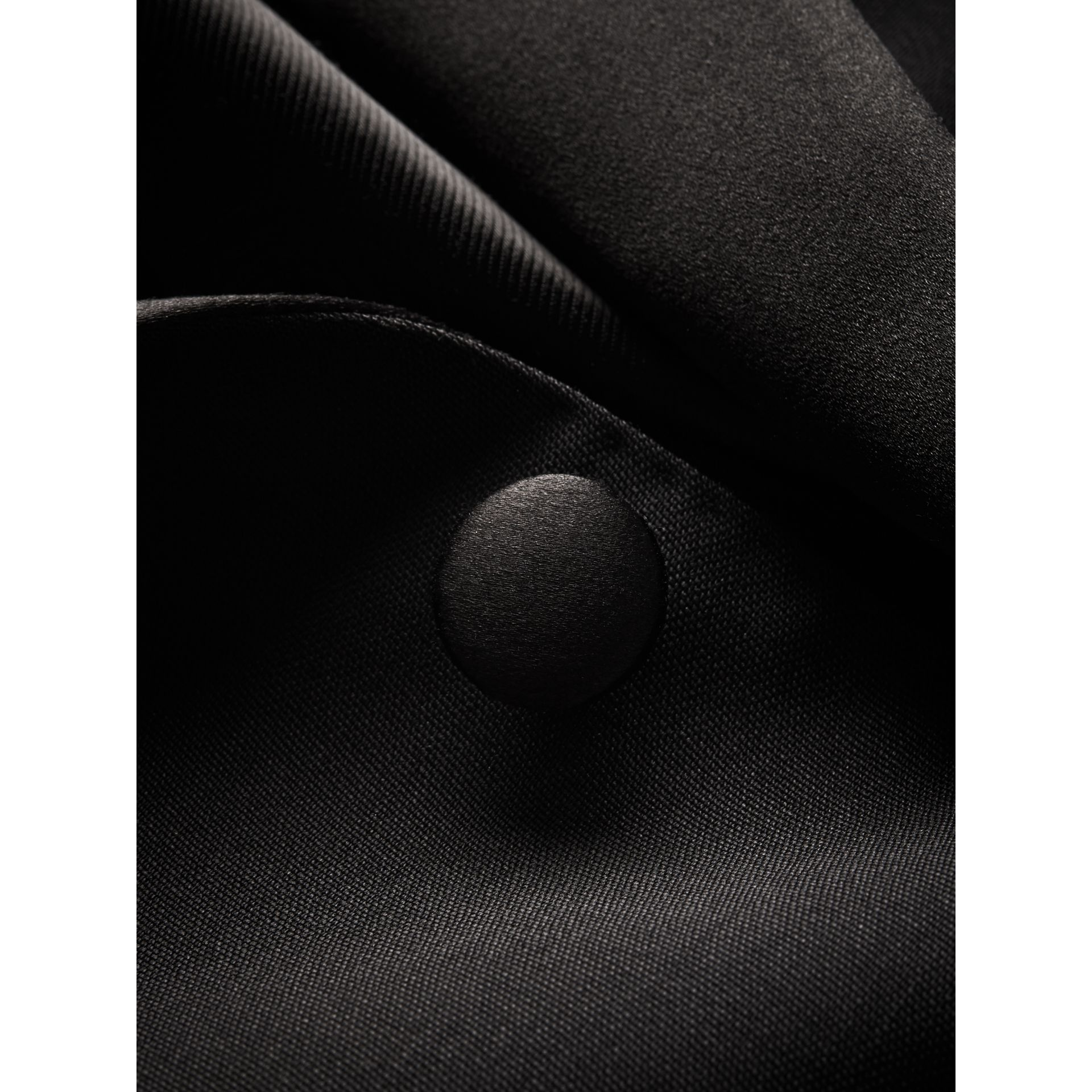 Slim Fit Wool Mohair Half-canvas Tuxedo in Black - Men | Burberry United Kingdom - gallery image 1
