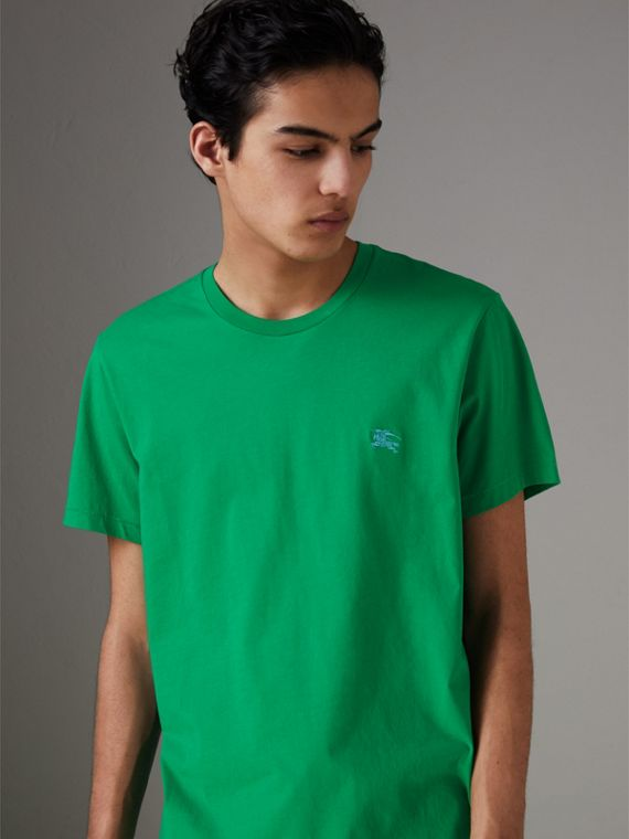 Cotton Jersey T-shirt in Bright Green