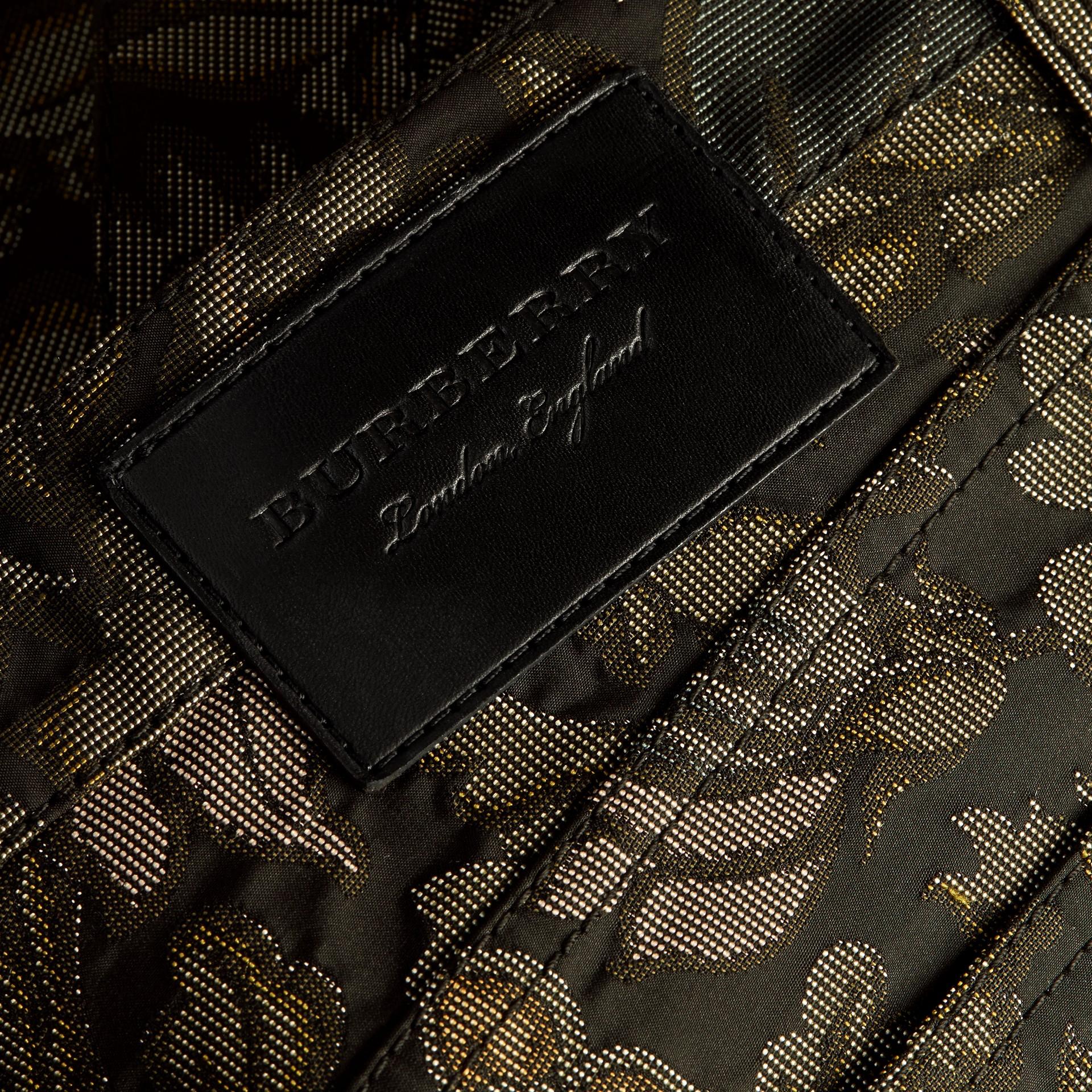 Sálvia Calças jeans com estampa floral em jacquard e corte slim Sálvia - galeria de imagens 2