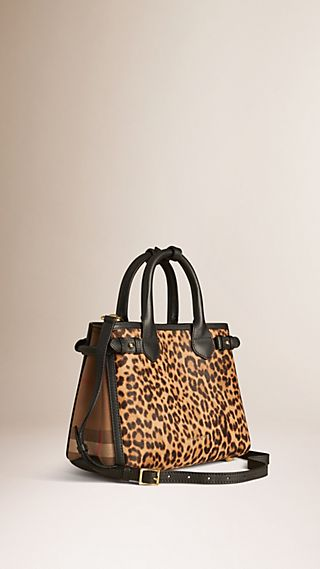 The Small Banner in Animal Print Calfskin