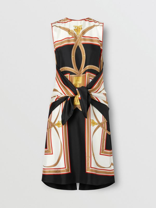 Archive Scarf Print Silk Dress with Detachable Scarf in Black - Women | Burberry United Kingdom - cell image 3