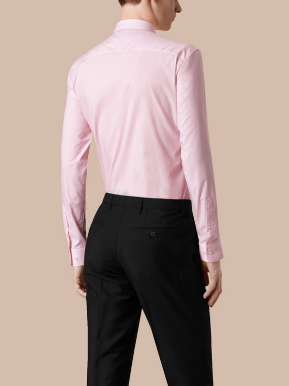 Modern Fit Gingham Cotton Poplin Shirt City Pink - cell image 2