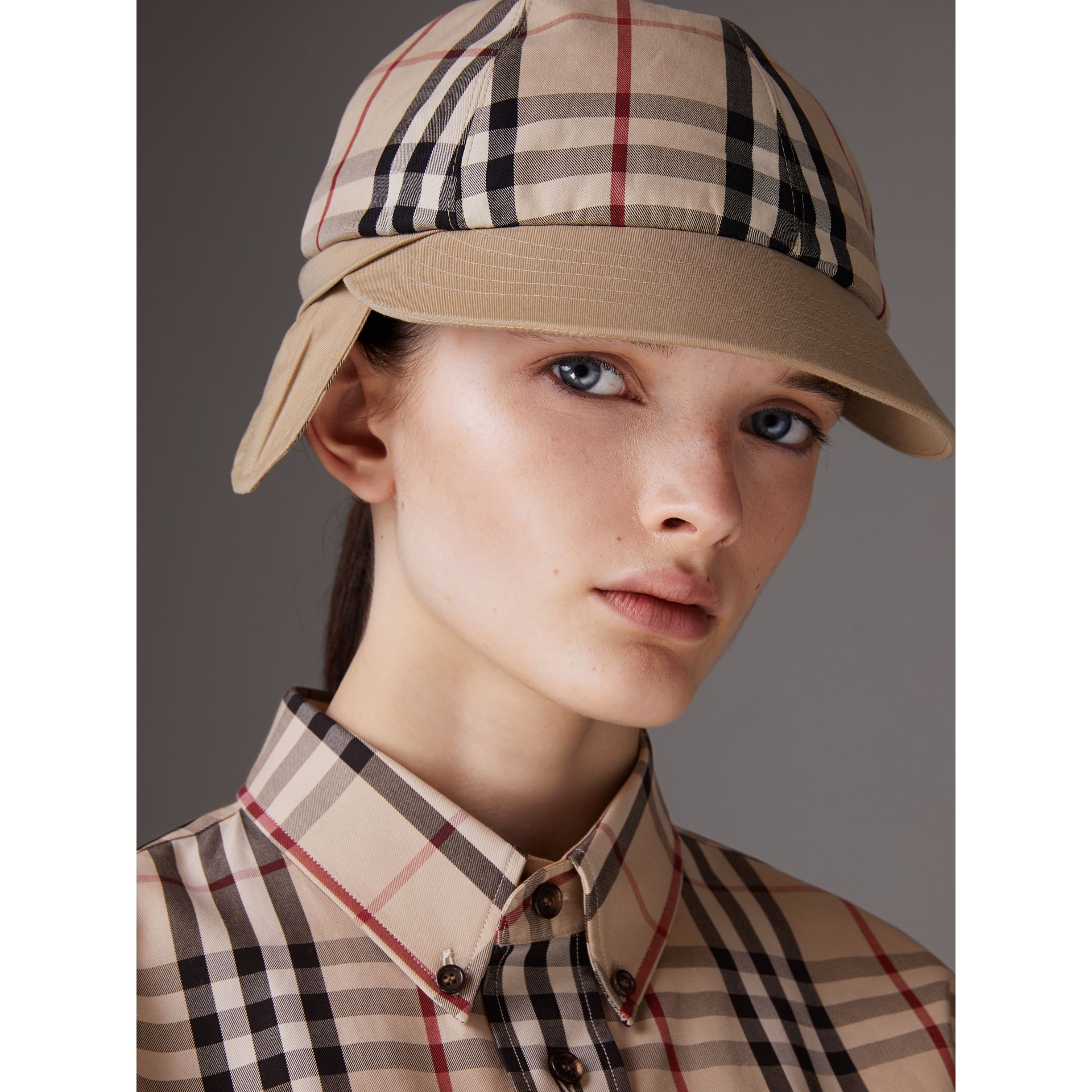 Gosha x Burberry Baseball Cap in Honey | Burberry Singapore - gallery image 5