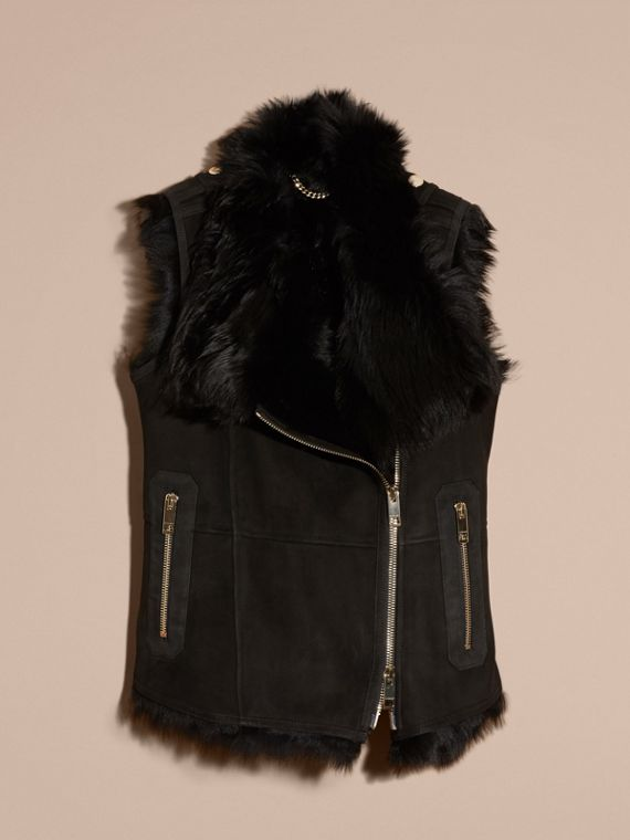 Black Shearling Gilet Black - cell image 3