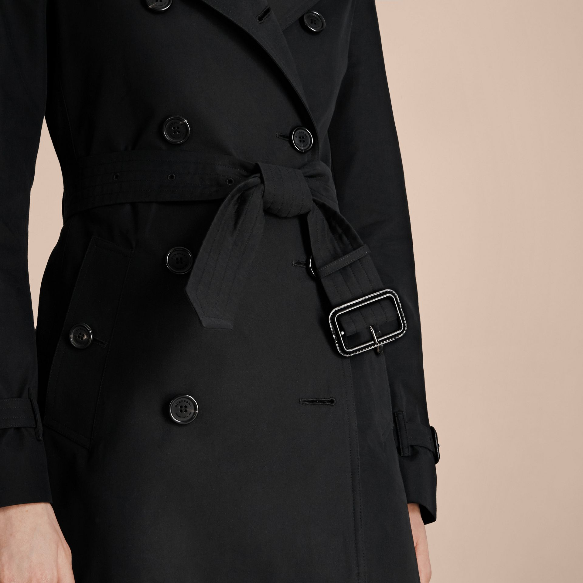 Black The Kensington – Extra-long Heritage Trench Coat Black - gallery image 6