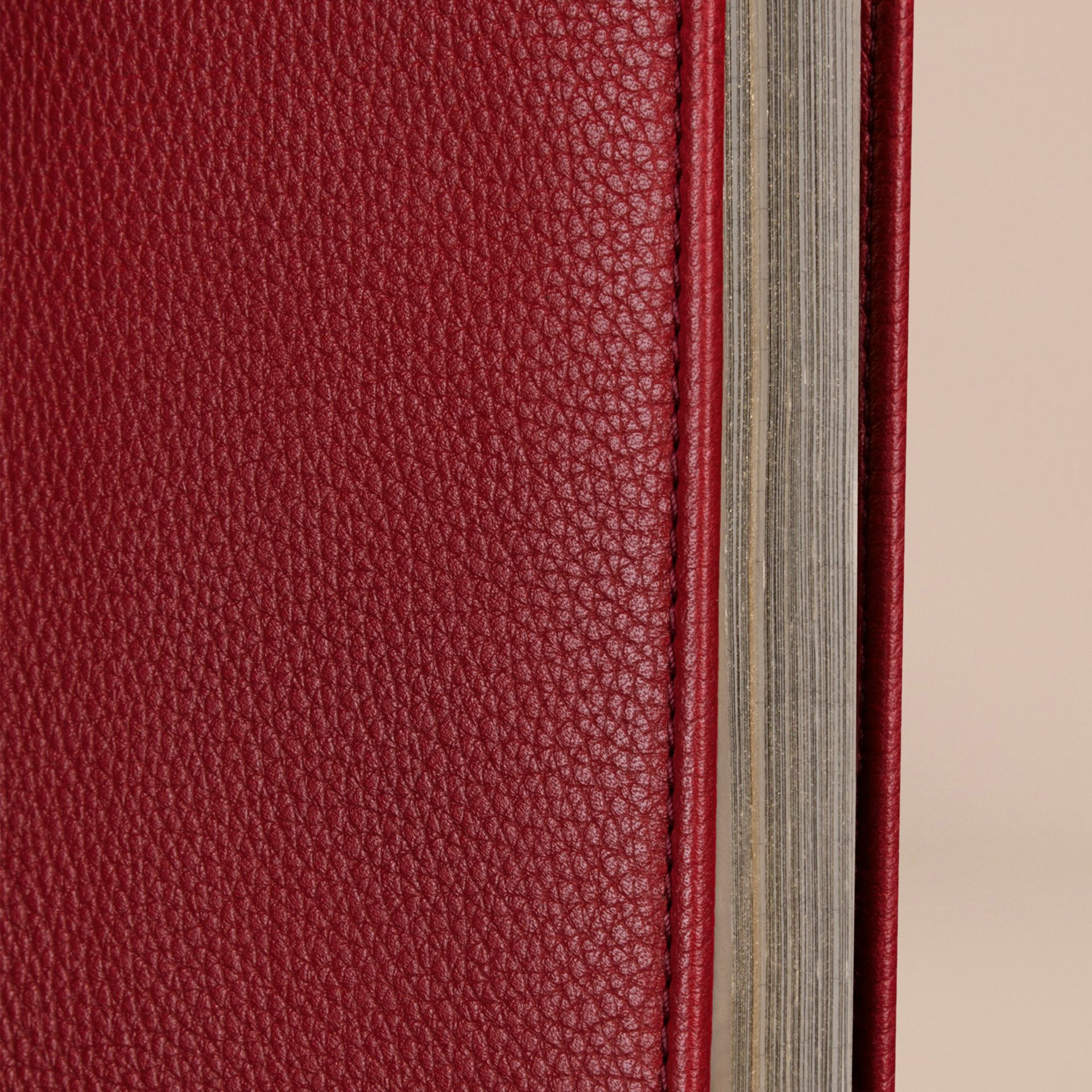 Grainy Leather A4 Notebook in Parade Red | Burberry - gallery image 2
