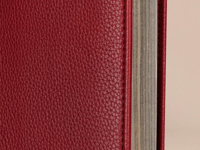 Grainy Leather A4 Notebook in Parade Red | Burberry United Kingdom - cell image 1