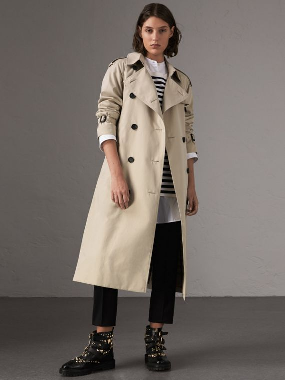 The Westminster – Extra-long Trench Coat in Stone
