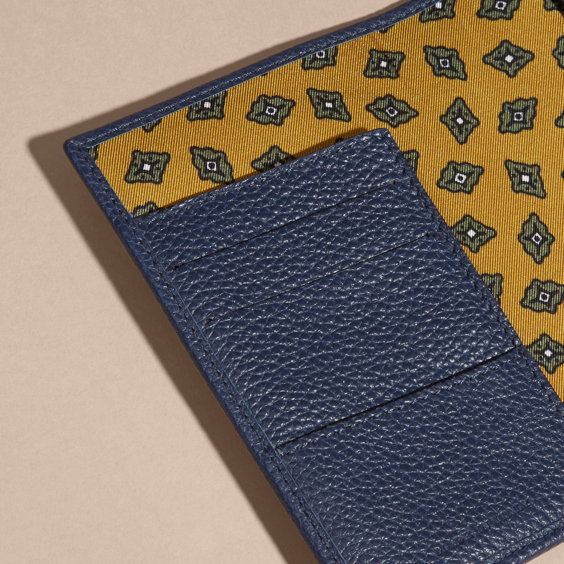 Bright navy Grainy Leather Passport and Card Holder Bright Navy - gallery image 4