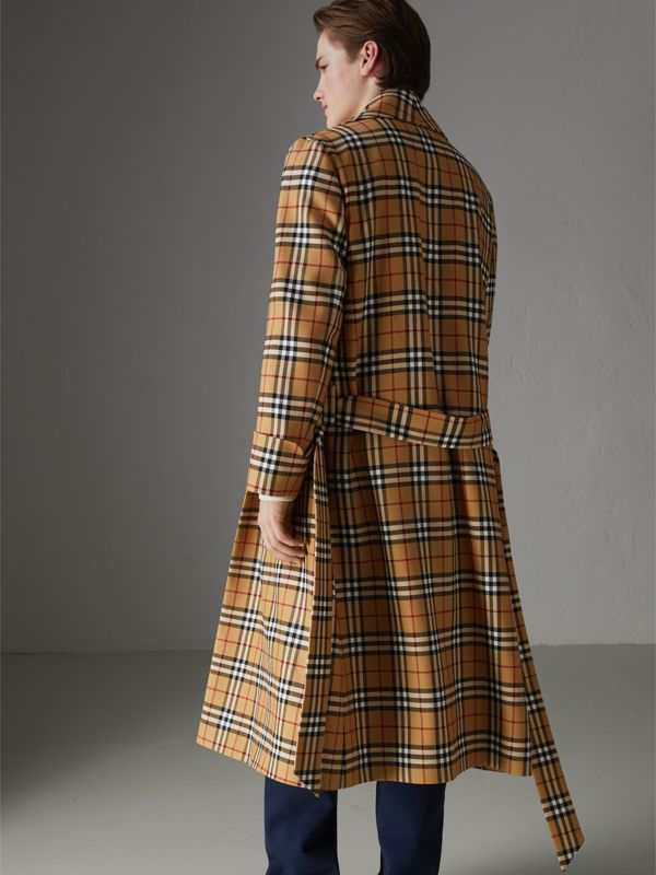 Reissued Vintage Check Dressing Gown Coat in Antique Yellow - Men | Burberry - cell image 2