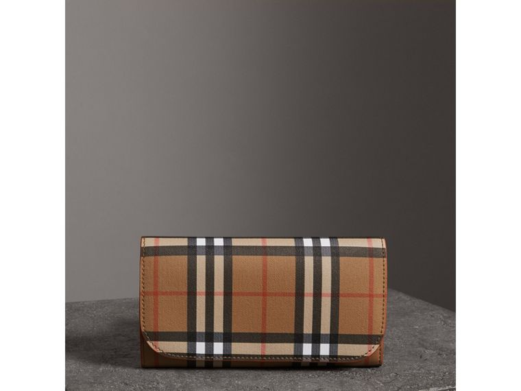 Vintage Check Continental Wallet and Pouch in Clementine - Women | Burberry Hong Kong - cell image 4