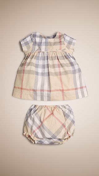 Check Cotton Dress and Bloomers