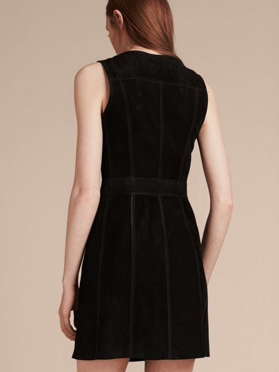 Black Nubuck Zip-front Dress - cell image 2