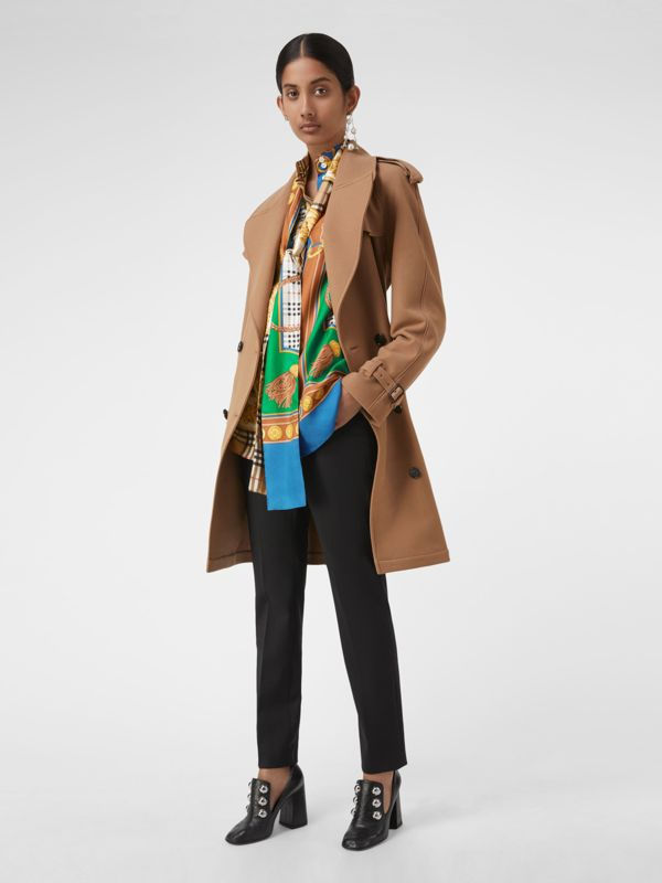 Archive Scarf Print Silk Tie-neck Shirt in Multicolour - Women | Burberry - cell image 3