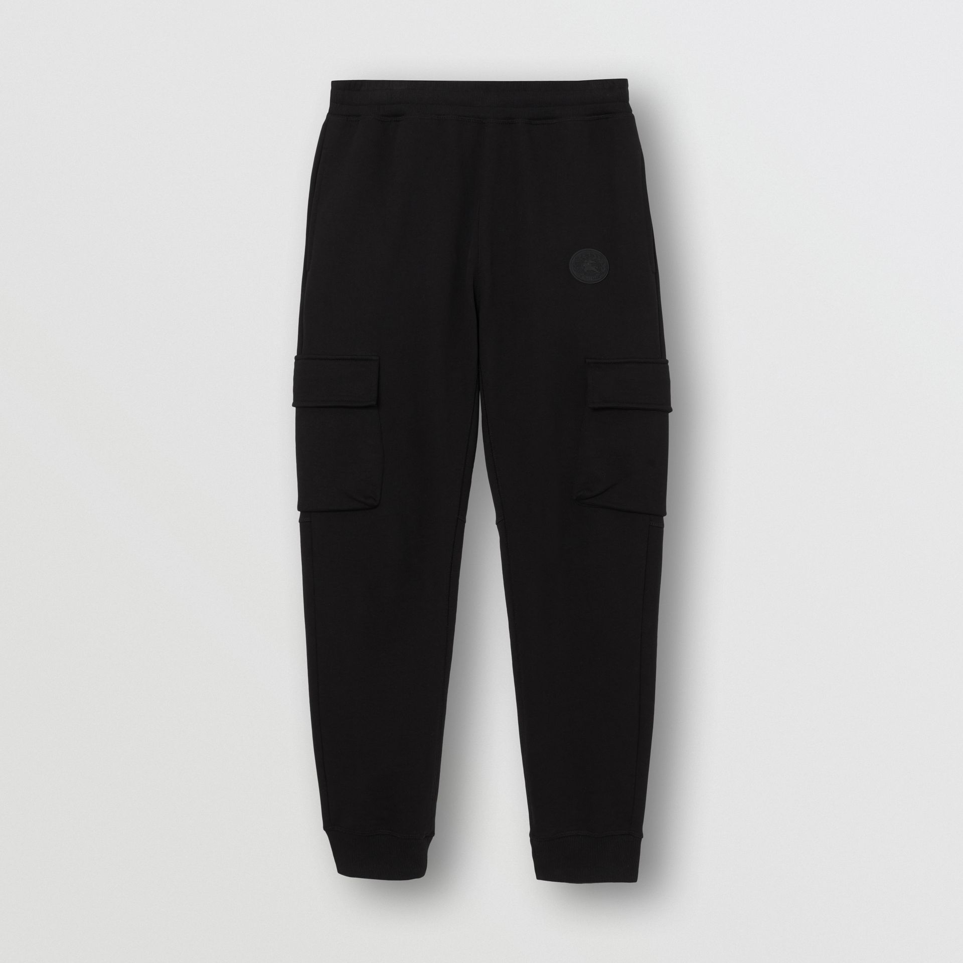 Pocket Detail Cotton Jersey Trackpants in Black - Men | Burberry - gallery image 3