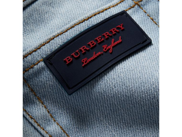 Relaxed Fit Stretch Jeans in Light Blue | Burberry - cell image 1
