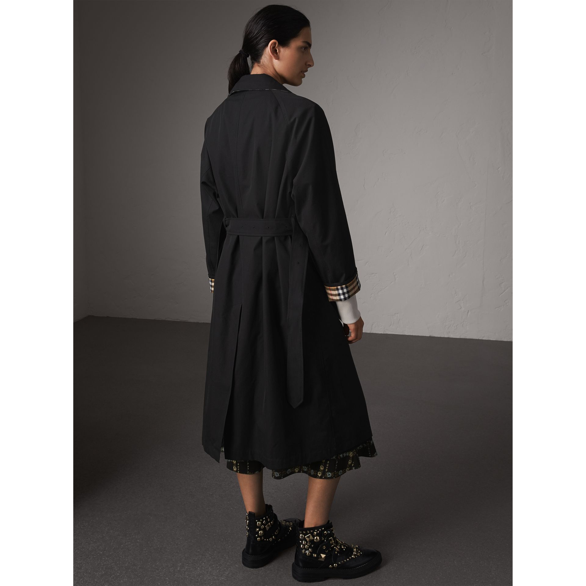The Brighton – Car Coat extra-long (Noir) - Femme | Burberry - photo de la galerie 3