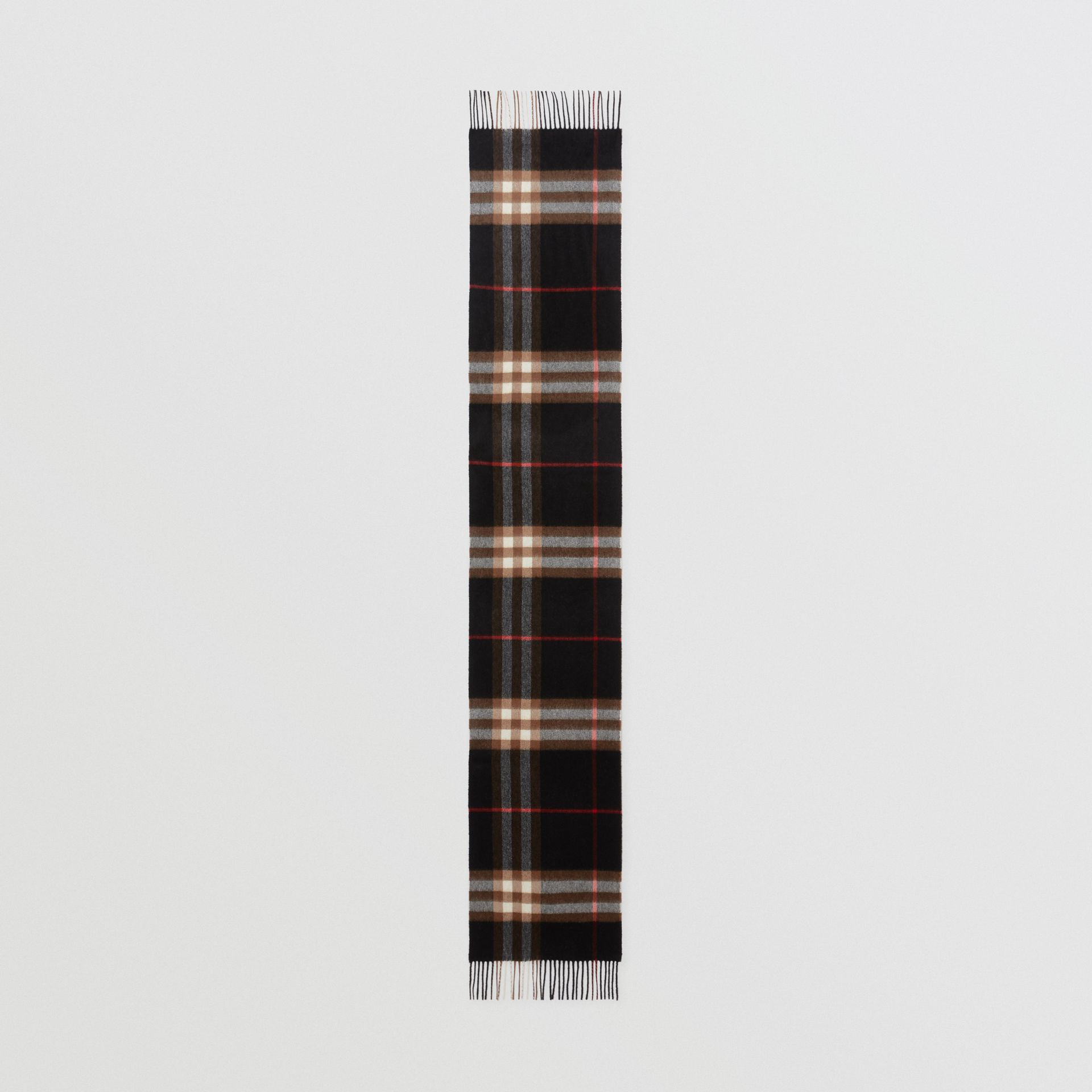 The Classic Check Cashmere Scarf in Indigo/mid Camel | Burberry - gallery image 3