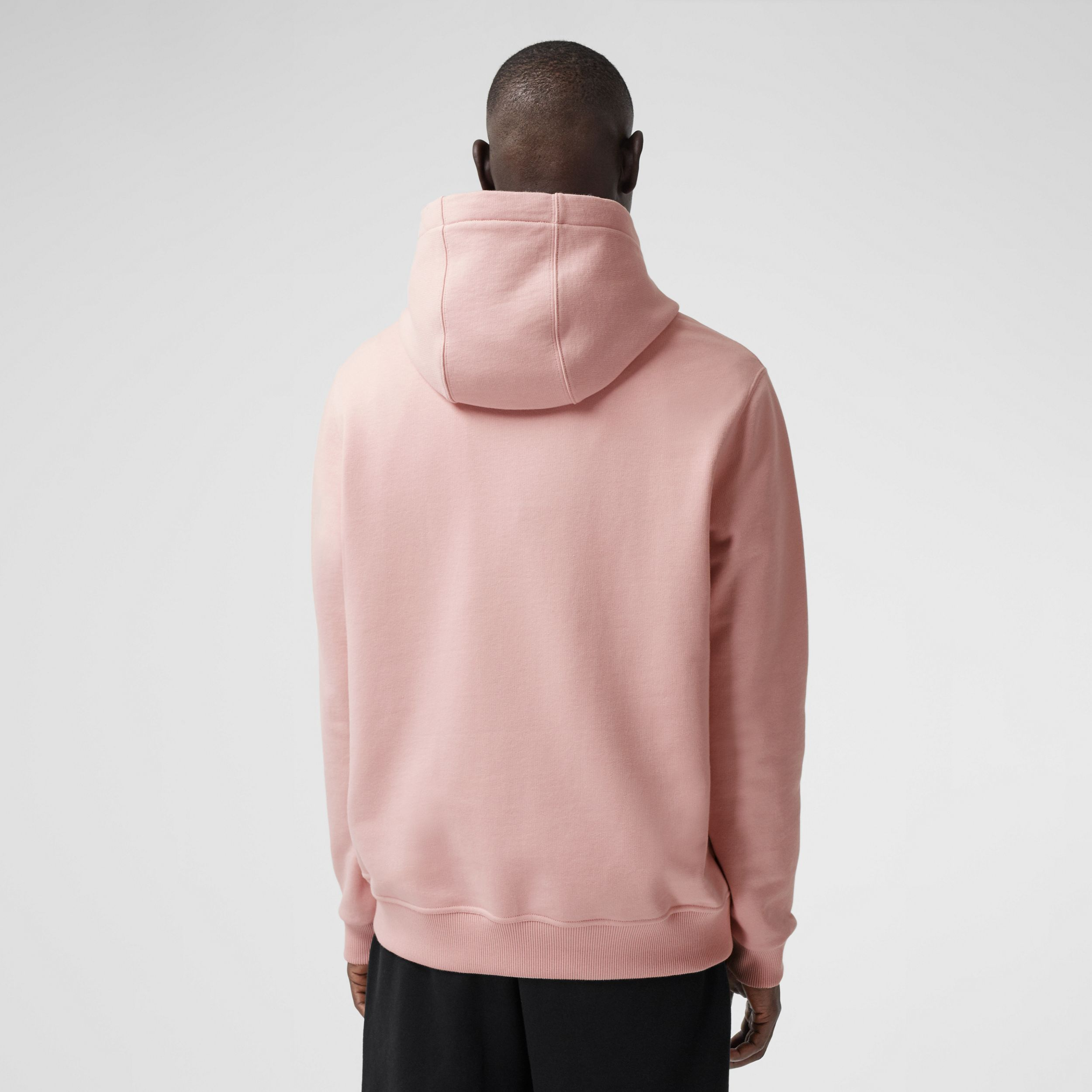 Kaleidoscope Print Cotton Hoodie in Frosted Pink - Men | Burberry - 3