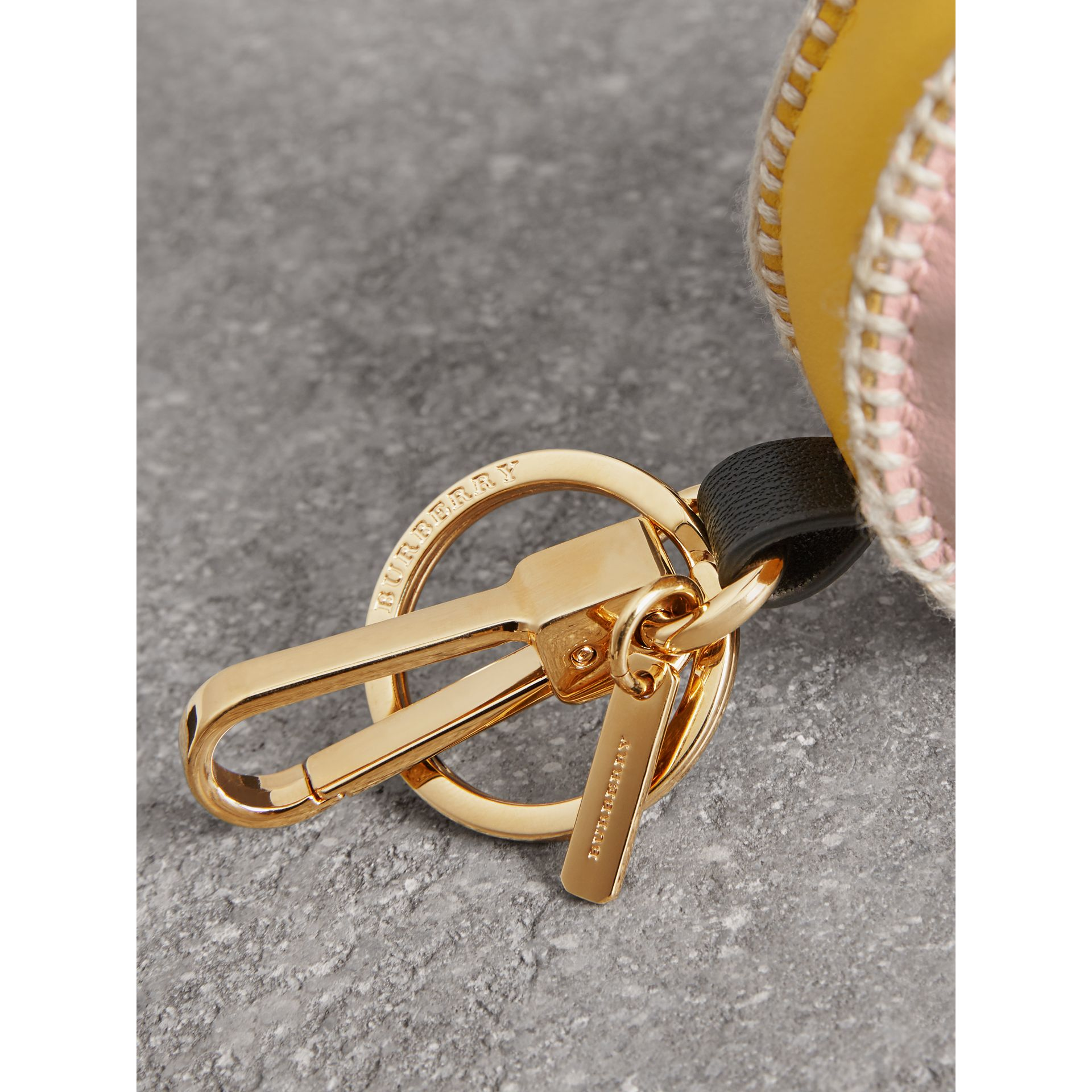 Derek The Bird Leather Charm in Larch Yellow - Women | Burberry Australia - gallery image 1