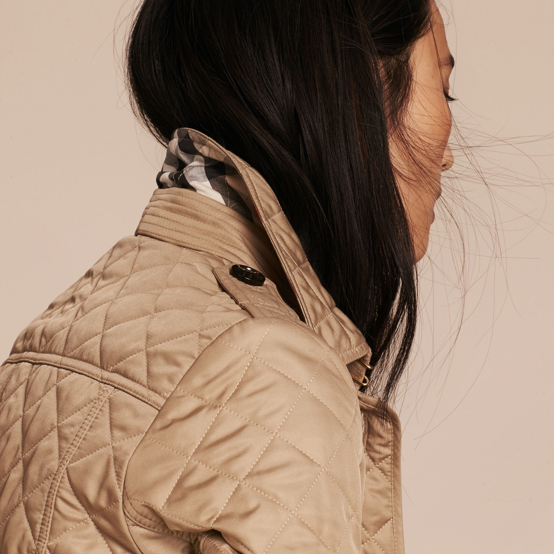 Diamond Quilted Jacket in Canvas - gallery image 5