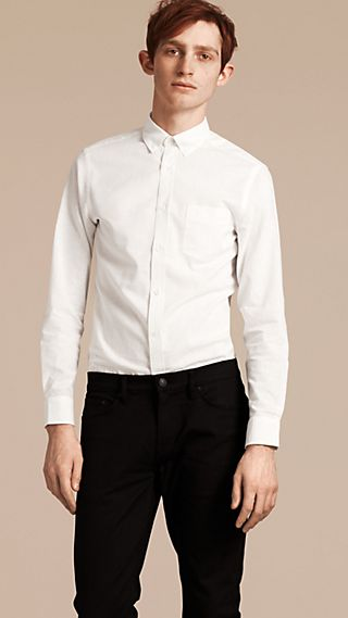 Button-down Collar Cotton Linen Shirt