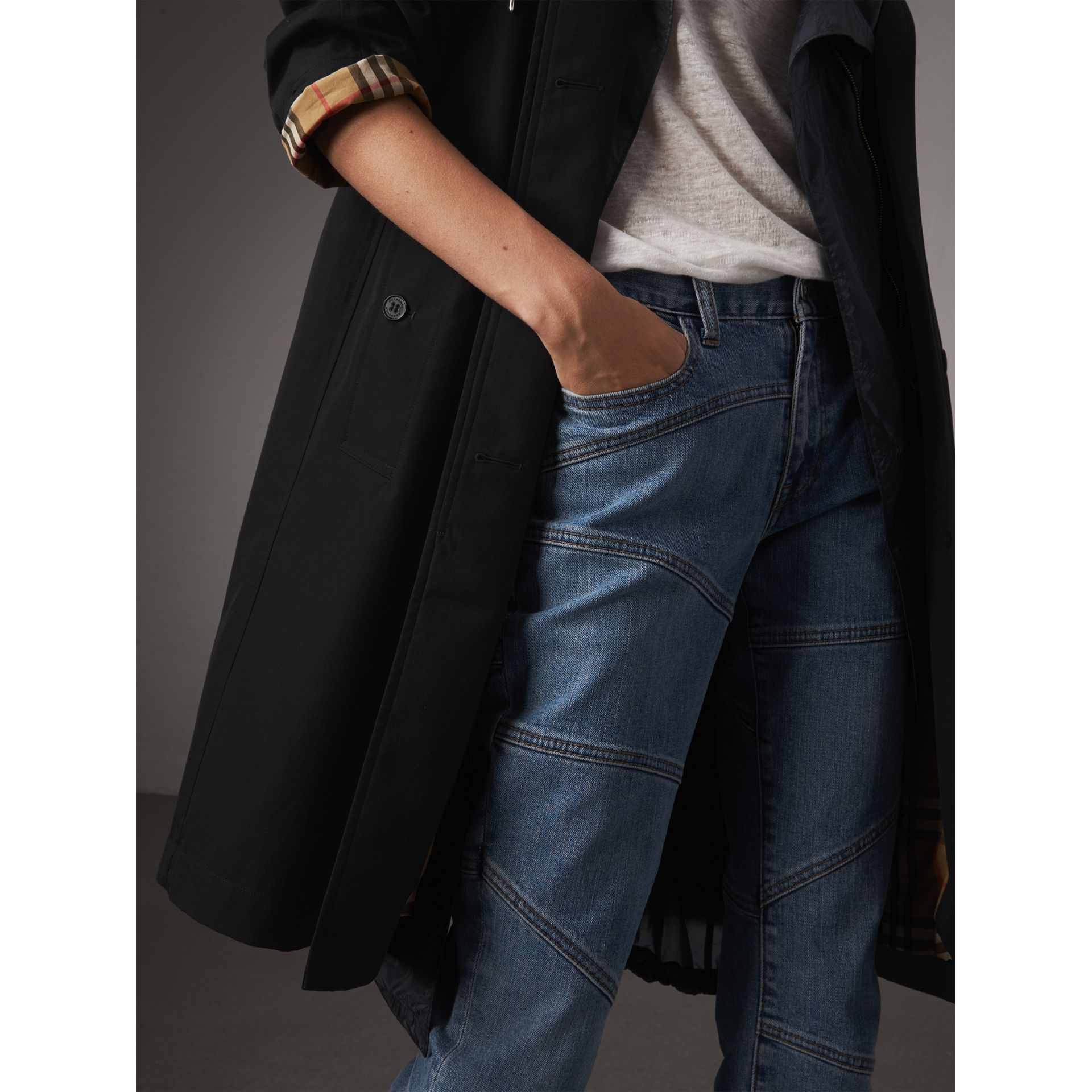 The Camden – Long Car Coat in Black - Women | Burberry United States - gallery image 4