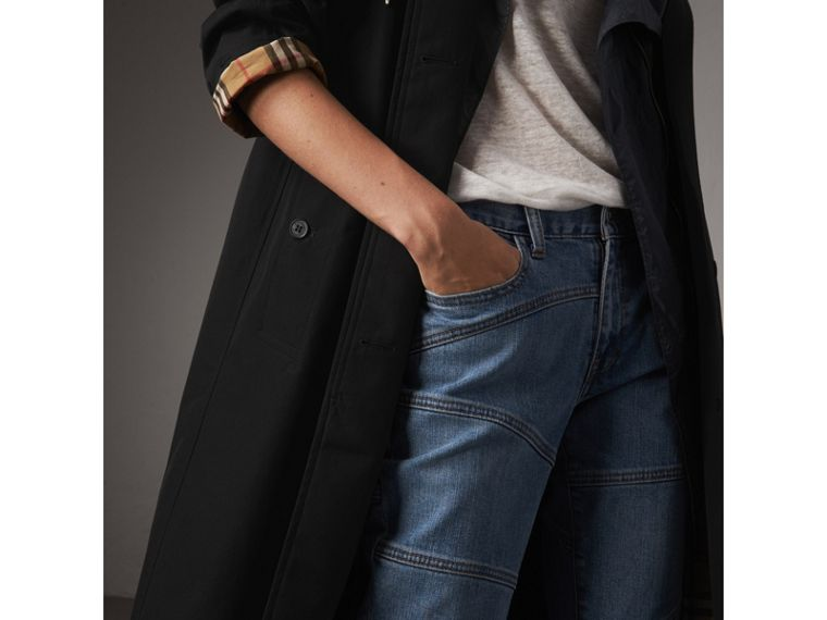 The Camden – Long Car Coat in Black - Women | Burberry United States - cell image 4