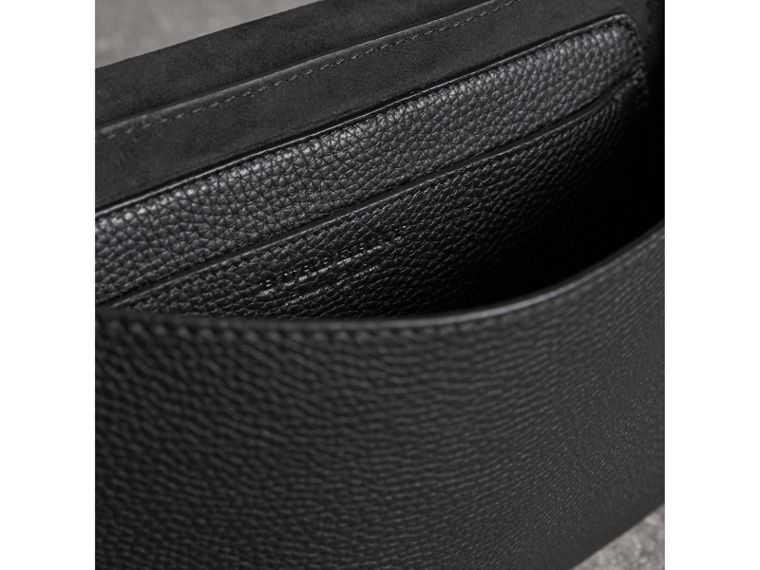 Small Embossed Leather Messenger Bag in Black - Women | Burberry - cell image 4