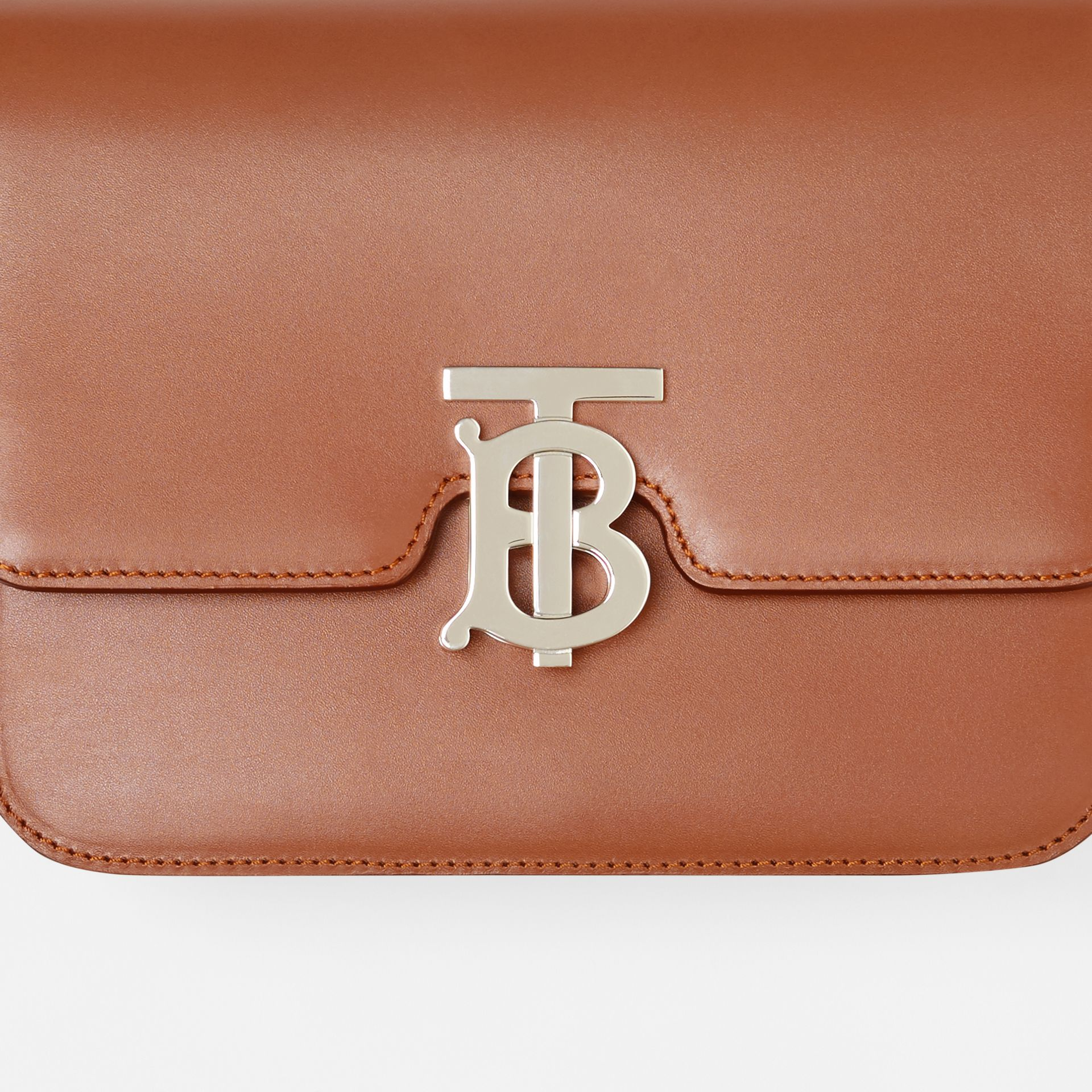 Small Leather TB Bag in Malt Brown - Women | Burberry United Kingdom - gallery image 1