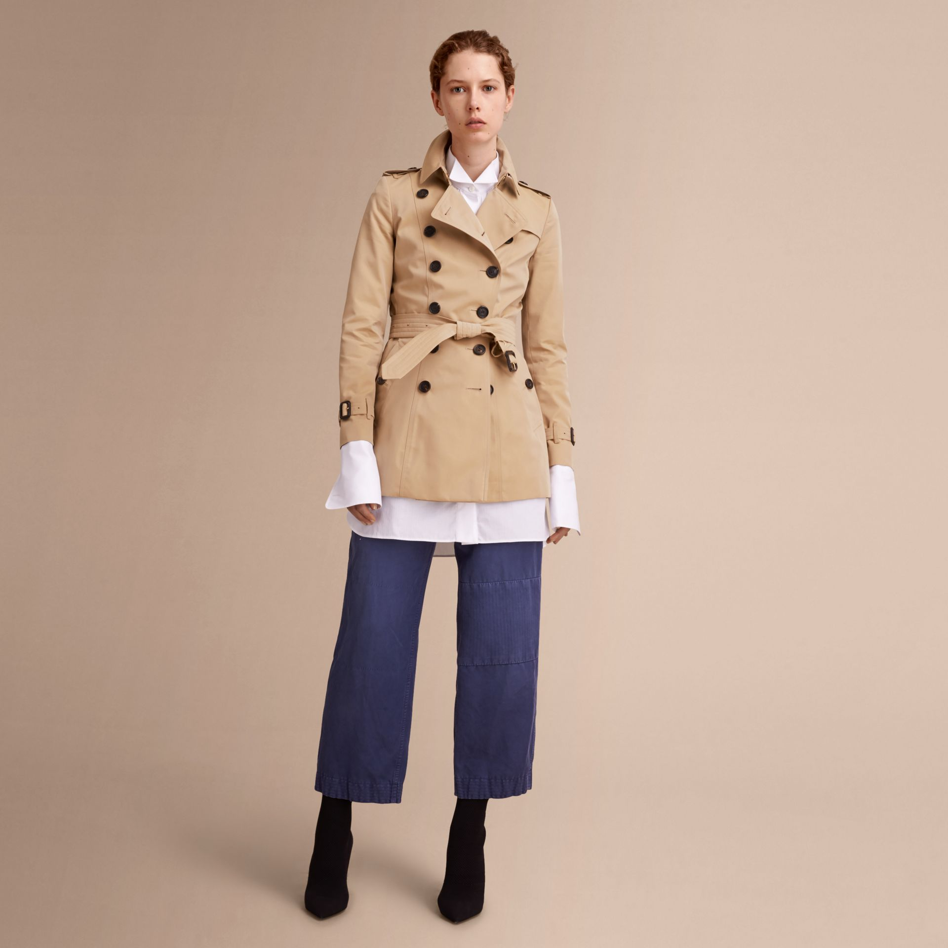 Honey The Chelsea – Short Heritage Trench Coat Honey - gallery image 8