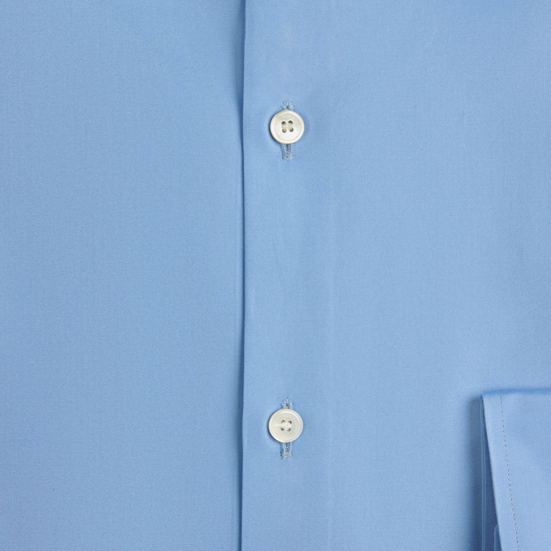 Slim Fit Cotton Poplin Shirt Mid Blue - gallery image 2
