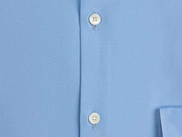 Slim Fit Cotton Poplin Shirt Mid Blue - cell image 1
