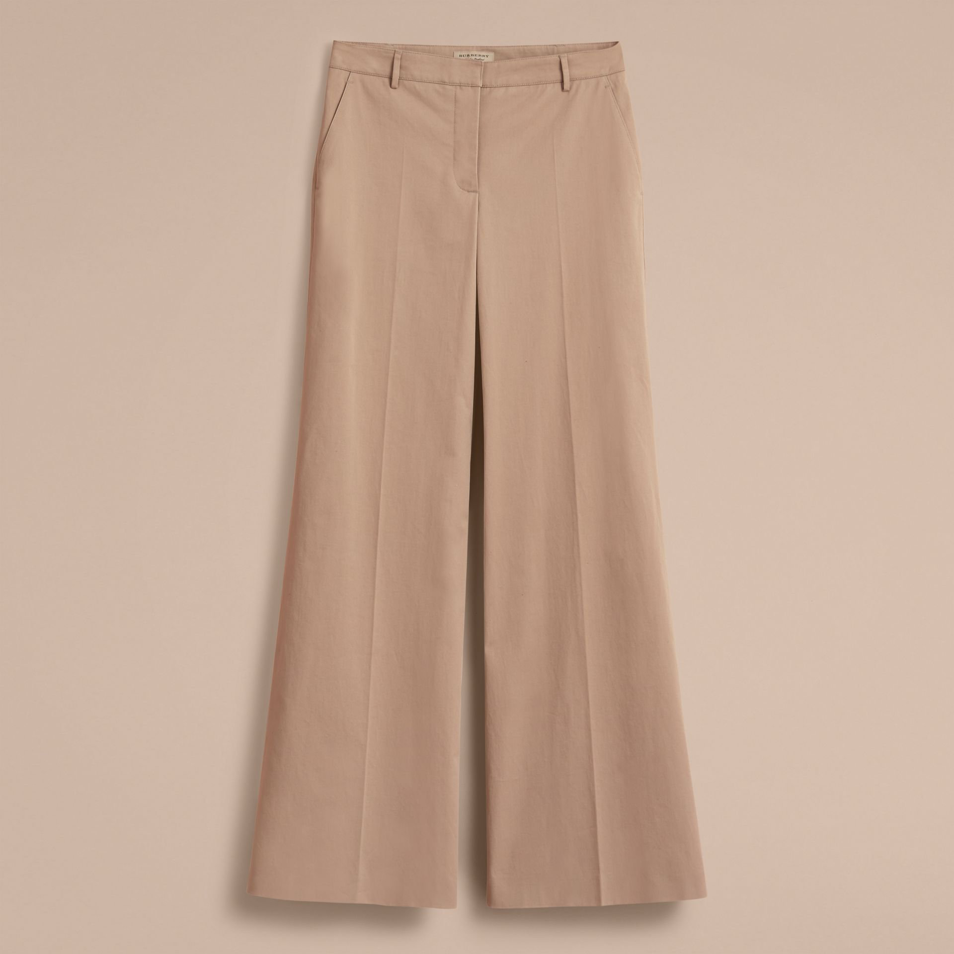 Cotton Twill Wide-leg Trousers - gallery image 4