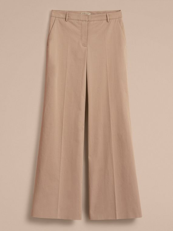 Cotton Twill Wide-leg Trousers - cell image 3