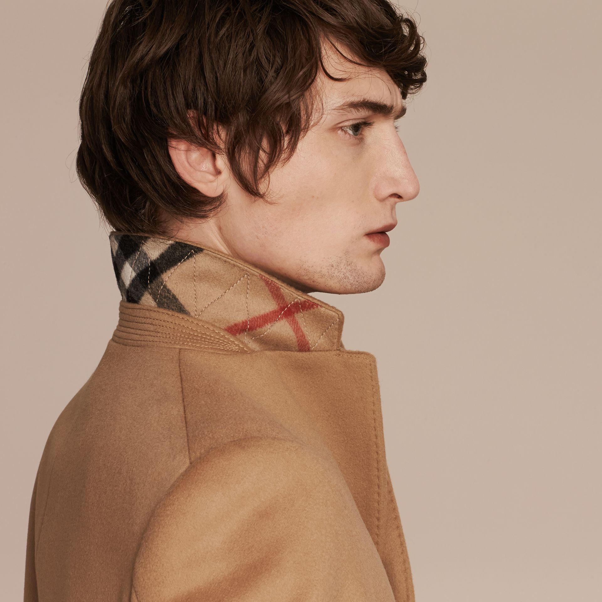 Wool Cashmere Tailored Coat Camel - gallery image 5