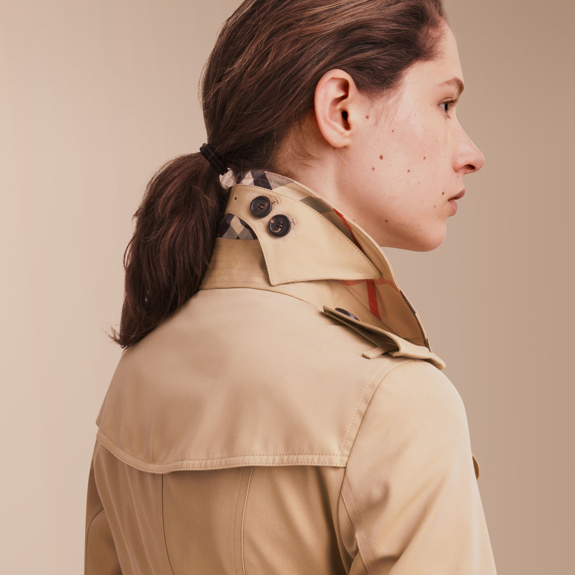 The Sandringham – Long Heritage Trench Coat in Honey - gallery image 5