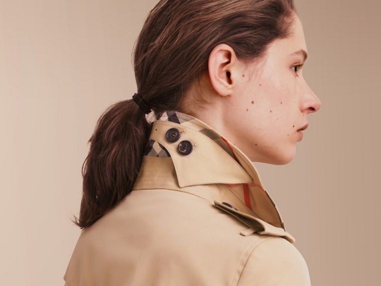 The Sandringham - Trench coat Heritage lungo (Miele) - Donna | Burberry - cell image 4