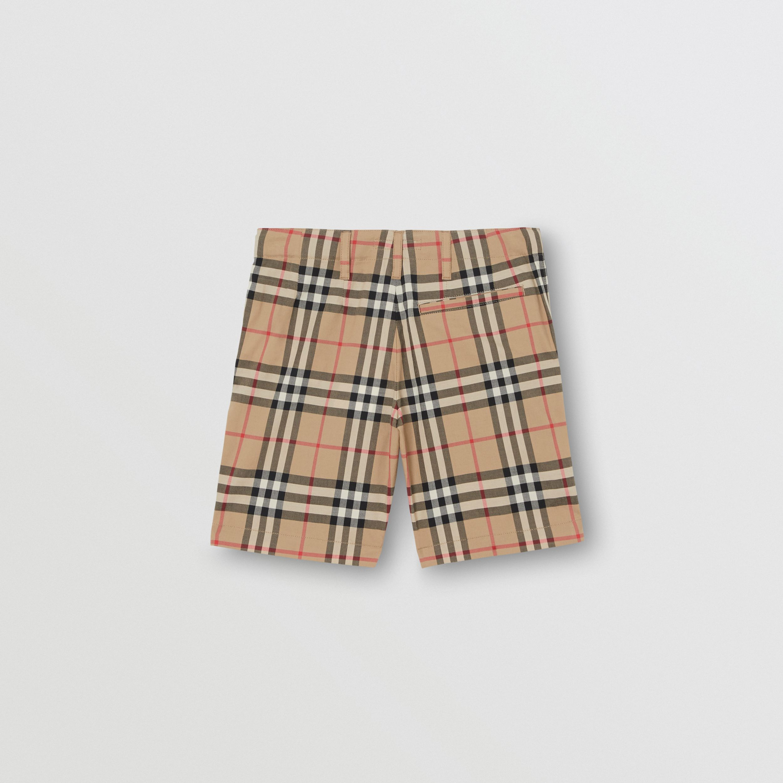 Vintage Check Cotton Tailored Shorts in Archive Beige | Burberry - 4