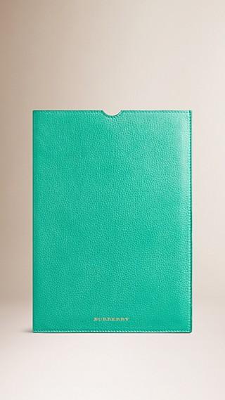 Étui pour iPad en cuir grainé