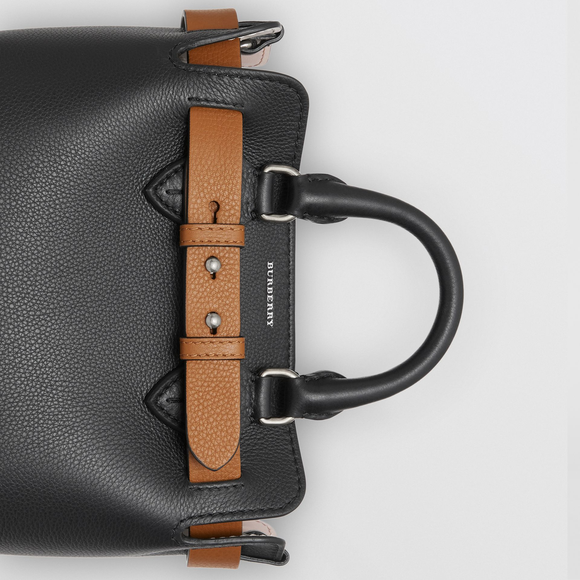 The Mini Leather Belt Bag in Black - Women | Burberry Canada - gallery image 1